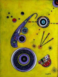 Wassily Kandinsky inspired art by jhaddock art - www.jameshaddock.com