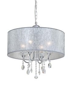 Laura Ashley Home Regan Shade Drum Pendant- entry
