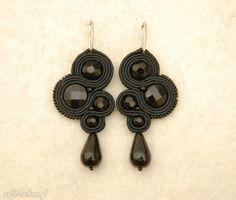 czarne kolczyki sutasz z onyksami. $20 Drop Earrings, Jewelry, Art, Art Background, Jewlery, Jewerly, Schmuck, Kunst, Drop Earring