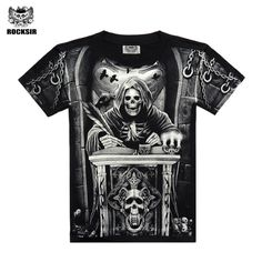 T-Shirts  Rocksir T shirt Men 2017 New Fashion Brand Men's Casual 3D Printed Man's T shirt Cotton Men Clothes Camiseta Masculino  M-XXXL *** AliExpress Affiliate's Pin. Details on this piece can be viewed on AliExpress website by clicking the image