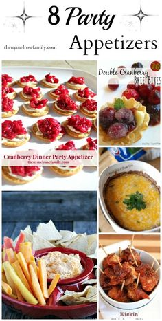 Perfect Party Appetizers for Winter Entertaining- Those cranberry bites look amazing!