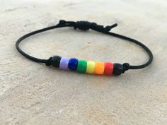 $5 - spread love minimalist jewelry <3 Rainbow Bracelet, Rainbow Beaded Bracelet, Friendship Bracelet, Teacher Gift by the2911plan on Etsy