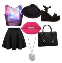 """ion the galaxy"" by haileycardona on Polyvore featuring Nly Shoes, Michael Kors, Lime Crime and Karen Kane"