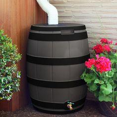 Good Ideas 50 Gallon Rain Barrel Color: Oak