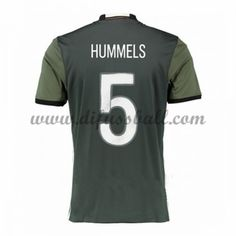 Nationaltrikot Deutschland 2016 Hummels 5 Kurzarm Auswärts Fußballtrikots