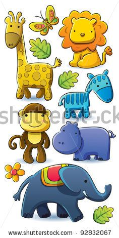 Cute Animals Collection by h4nk, via ShutterStock