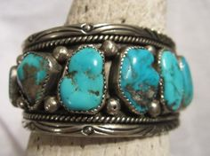 Turquoise Jewelry/Native American Jewelry/Cuff by edanebeadwork, $399.00