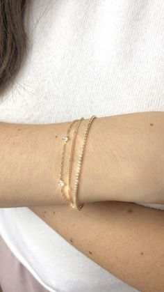 Simple, delicate chain bracelets perfectly suited for a minimal and classy look. Chain Bracelets, Simple Bracelets, Diamond Bracelets, 14k Gold Bracelet, Ankle Bracelets, Ring Bracelet, Jewelry Bracelets, Gold And Silver Bracelets, Gold Bracelet For Women