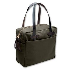 www.Filson.com   Zippered Tote Bag: This tote keeps your valuables secured safely inside. #Filson