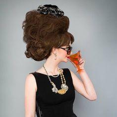 The Des Moines Art Center's Big Hair Ball. #desmoines #iowa #fashion #hairstyles #gala