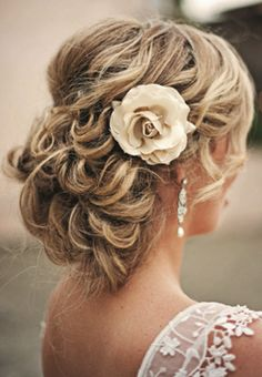 Great if you are not wearing a veil, perfect beach wedding hair                                                                                                                                                      More
