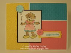 Build-a-Bear birthday card by Shelley Zarling