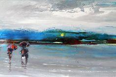 Gran pintura al óleo en inchers de lienzo por AIDACONTEMPORARYART