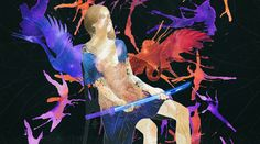 "My illustration for contest "" Osaka Asian Film Festival"" 2016 #janegalushkina #art #illustration #cg #computergraphics #watercolor #japanesemotifs #woman #poster #bird"