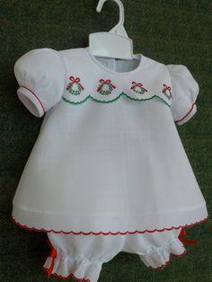 Baby Girl Christmas Dress and Panty Cover