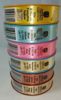 American Greetings Ribbon Vintage Multi-Pack 6 Rolls 60 Yards Total Gift Craft  #AmericanGreetings