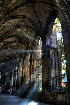 Cloister of the Cathedral of Barcelona - Catalonia, Spain Beautiful Buildings, Beautiful Places, Architecture Cool, Baroque Architecture, Ancient Architecture, Slytherin Aesthetic, Kirchen, Belle Photo, Aesthetic Pictures
