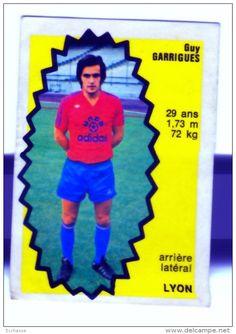 panini football 76 77   OL Lyon Olympique Lyonnais Guy Garrigues 104