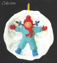 "Hallmark 1990 Miniature Ornament Artist's Favorites QXM5773 Size Measures about 1 1/8"" in diameter. Condition Ornament is new in box. Box is in excellent condition. Price tab intact."