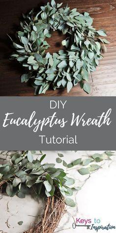 Erstellen Sie einen wunderschönen frischen Eukalyptus-Kranz! Dieser Kranz ist n...