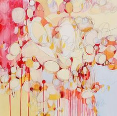 Sarah Irwin: Touch, 2013 Acrylic and Carbon Transfer on Panel 36 x 36 inches