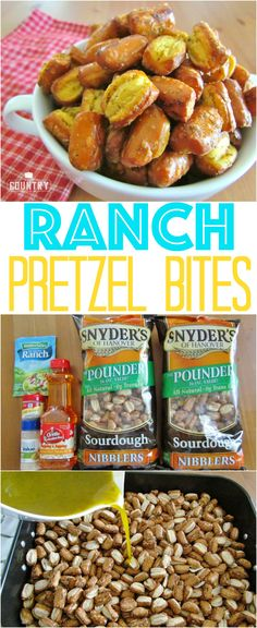 Ranch Pretzel Bites recipe from The Country Cook. So ridiculously easy and addictive! Everyone asks me for this recipe when I bring it to parties!