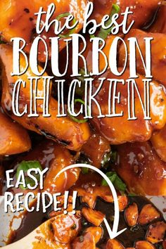 This delicious bourbon chicken recipe is a play on the classic food court favorite! Best Bourbons, Bourbon Chicken, Food Court, Pot Roast, Chicken Recipes, Easy Meals, Play, Classic, Ethnic Recipes