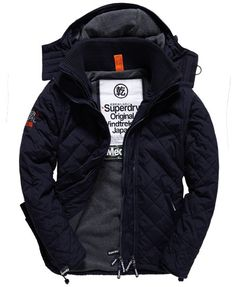 Superdry Quilted Windcheater Men's Coats And Jackets, Line Jackets, Mode Man, Superdry Mens, Windbreaker Jacket, Sweater Jacket, Winter Coat, Nylons, Winter Fashion