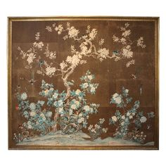 Early 19th Century Chinese Hand-Painted Wallpaper Panels | From a unique collection of antique