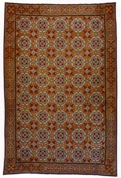 "A mid 19th century French Needlepoint rug. Size 11' 0"" x 16' 6"" at Beauvais Carpets."