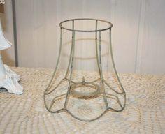 Altes lampenschirm gestell metall vintage shabby von haloha