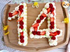 Tarte chiffres ou number cake, Recette Ptitchef