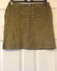 6c943cde74 New Next Khaki Zip Front Short Skirt Size 16 34 bnwt #fashion #clothing #