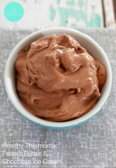 OMG get excited! Now you can make rich and creamy Healthy Peanut Butter & Chocolate Ice Cream in the Thermomix in less than 1 minute! Healthy Ice Cream, Healthy Peanut Butter, Peanut Butter Banana, Chocolate Peanut Butter, Thermomix Icecream, Thermomix Desserts, Whole Food Recipes, Dessert Recipes, Dairy Free Ice Cream