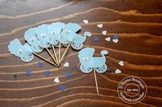 Stroller cupcake topper , baby shower cupcake topper Engagement Photo Props, Engagement Party Decorations, Bridal Shower Decorations, Nautical Banner, Baby Shower Cupcake Toppers, Flag Banners, Handmade Items, Boutique, Birthday
