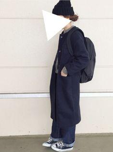 studio CLIPのノーカラージャケットを使ったsanさんのコーディネートです。│ワイドパンツにこのコートの組み合わせ...