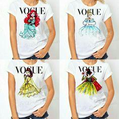 Women's Disney Vogue Princess Shirt, $19.99, Etsy/LaBelleMarielle