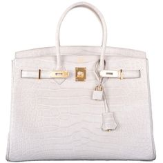 Pre-owned WOWZA! HERMES BIRKIN BAG 35cm BETON MATTE ALLIGATOR WITH... (295.010.845 COP) ❤ liked on Polyvore featuring bags, handbags, hermes, bolsas, purses, handbags and purses, top handle bags, crocodile embossed top handle bags, preowned handbags and man bag