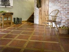 Oak parquet floor tile / terracotta / solid - ORIGINALE ...: