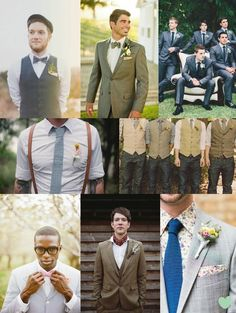 Cool #Groomswear Ideas Mood Board from The #Wedding Community