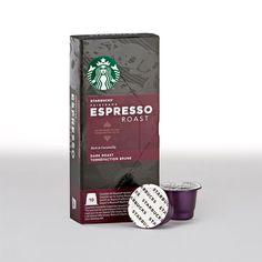 Eine reiche Kaffeemischung mit einem Hauch Karamell– das Herz unserer Espressogetränke. <br/><br/>Kostenloser Standardversand auf Bestellungen von Starbucks<sup>®</sup> Espresso Kapseln (50 und 100Stück).