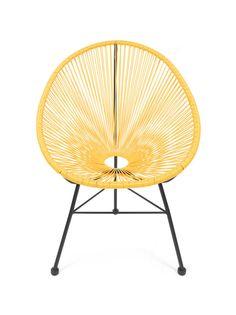 Acapulco Stuhl, Chair, Sessel, Gelb  - Design Klassiker
