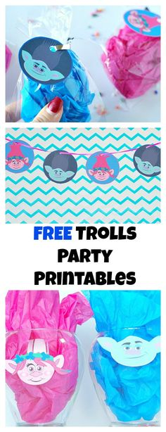 trolls party printables are fun for a movie night or trolls party. Make garlands, gift tags, cupcake toppers, and centerpieces with these printables! Trolls Party, Trolls Birthday Party, 6th Birthday Parties, Birthday Fun, Birthday Ideas, Little Girl Birthday, Bday Girl, Party Printables, Cupcakes