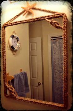 this is my pinterest inspired diy nautical mirror diy nautical starfish