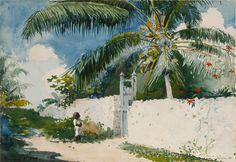 Winslow Homer - A Garden in Nassau