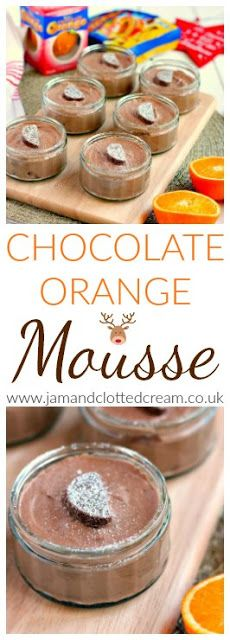 Easy No Egg Chocolate Orange Mousse Terry's Chocolate Orange, Chocolate Cream, Orange Mousse, Baking Buns, Eggless Recipes, Chocolate Mousse Recipe, Clotted Cream, Dessert Recipes, Desserts