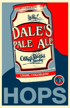 Cool Dale's Pale Ale Print. The argument for cans...