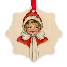 Vintage Elf Girl Ornament