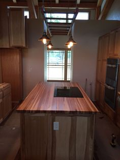 Hickory Butcher Block Countertop   Add Beauty And Value To Your Home With  Our Custom Made