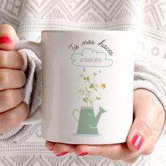 Taza original Tú nos haces crecer regalos para una madre, regalos para un padre, regalos para abuelos, regalos para profesores...
